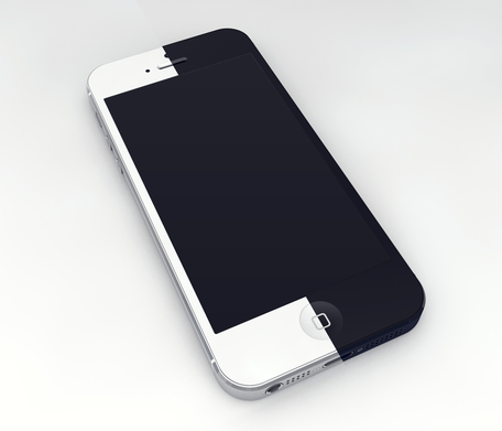 iPhone 5 3D šablona Mockup
