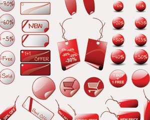 Illustrations stock rouge-Stickers-vente