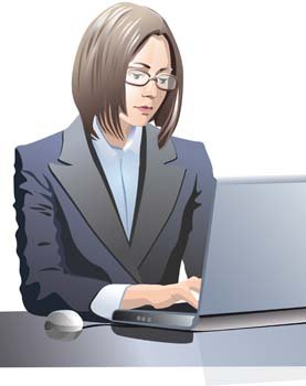 Girls and computer vector 30
