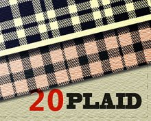 20 seamless pattern Plaid per Illustrator