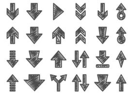 Hand Drawn Arrow Set