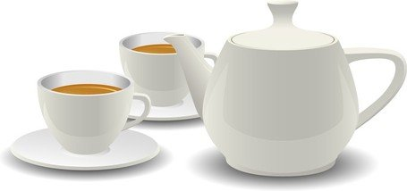 White Porcelain Tea Set