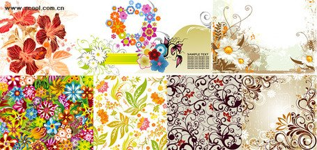 Exquisite fashion pattern vector material package