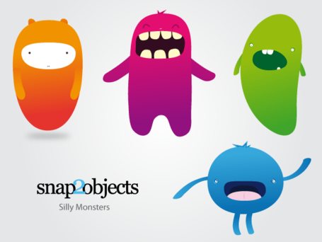Free Silly Vector Monsters
