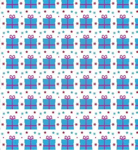 A Sweet Gift Seamless Photoshop And Illustrator Pattern