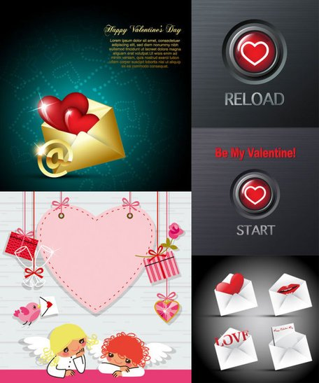 Valentine's Day Romantic Elements - Vector Valentine's Day