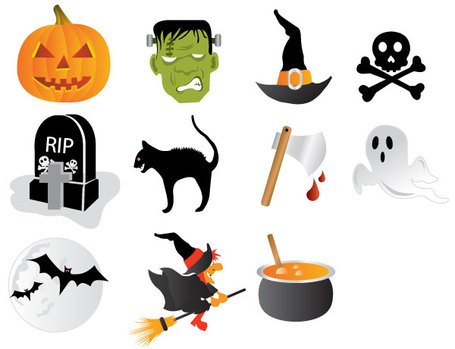Ücretsiz Halloween Icon Set