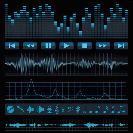 Audio Band Material 02 - Vector Audio Acoustic Frequency Music