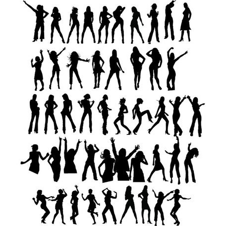 DANSEUSE SILHOUETTES VECTOR SET.eps