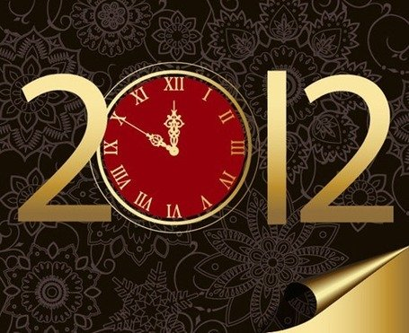 New Year 2012 with Clock