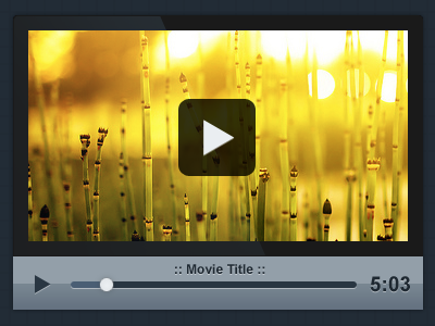 Custom-PSD-Video-Player