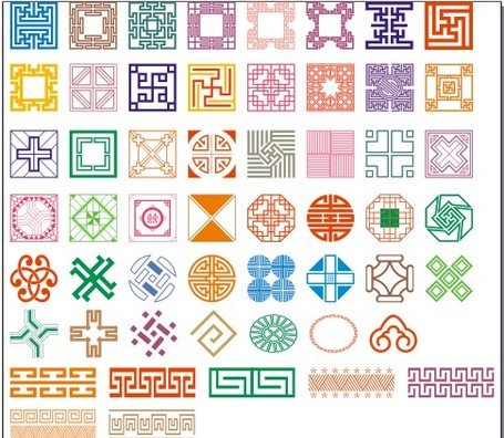 More than 50 kinds of classical pattern