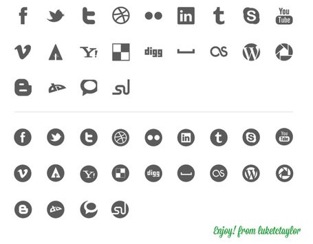 44 soziale Icon kit