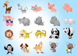 Pack animaux dessins animés