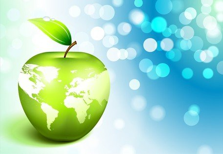 Apple aarde Vector 3