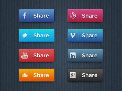 Social Media Icon Set (PSD)