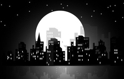 High Rise Moonlight City