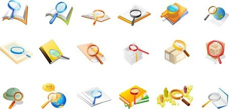Office Supplies Magnifying Glass Of The Two
