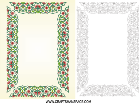 Chinese Border Ornament Frame Free