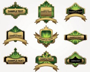 Stock Illustrations Labels for food-Vector