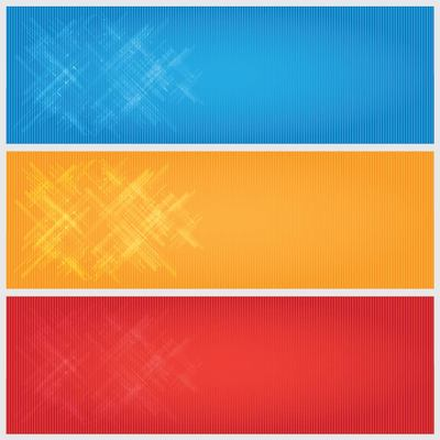 Bright Linen Banner Backgrounds