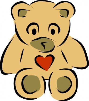 Stylized Teddy Bear With Heart