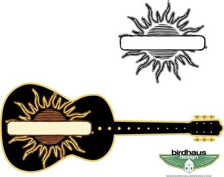 Sun Graphic And Guitar
