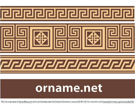 Free vector Greek ornament - meander