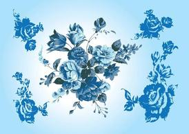 Blue Flower Vectors