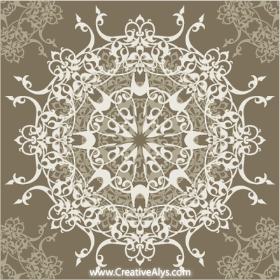 Retrò ellittica Seamless Pattern