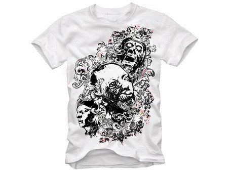 Trend pattern skull t-shirt design