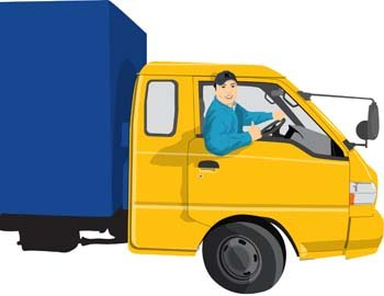 free free delivery truck clipart and vector graphics - clipart
