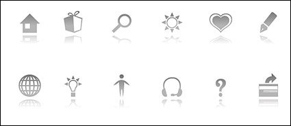 Stock simple vector style icon series
