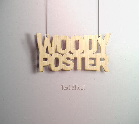 Psd Woody Text Effect