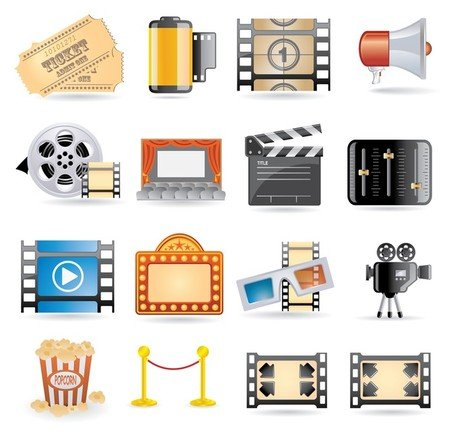 film pictogram vector 4
