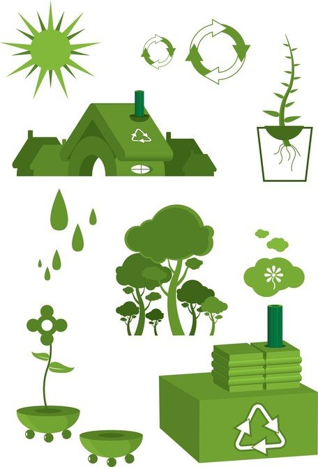 Ecology - Green Earth Vector, Save Planet Earth