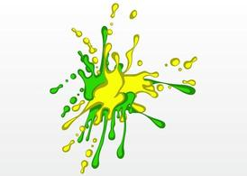 Splash de peinture brillante