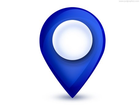 Map pointer icon (PSD)