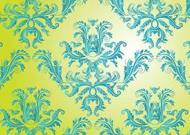 Pattern Free Vector damascato