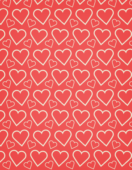 A heart outline free seamless vector pattern
