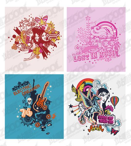 The trend of clothing prints series of