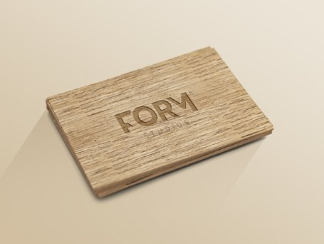 Wood Business Card Template (Psd, Smart Object)
