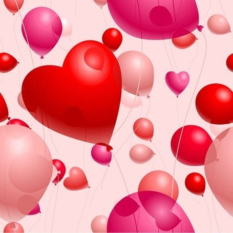 Romantic Heart-Shaped Balloons Valentine's Day