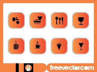 Alimentos & bebidas Icon Pack