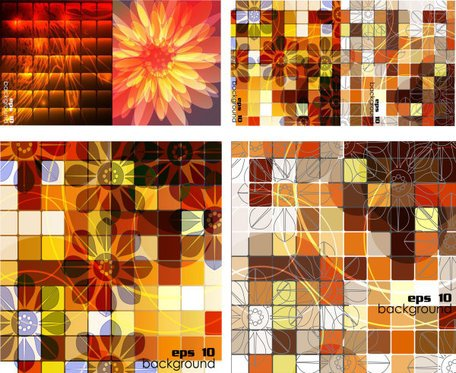 Vector background grid box trends