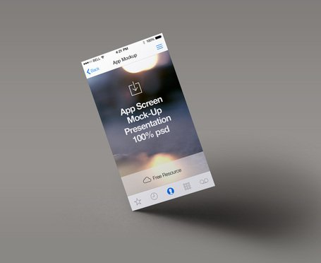 Perspektive App Bildschirm Mock-up 4