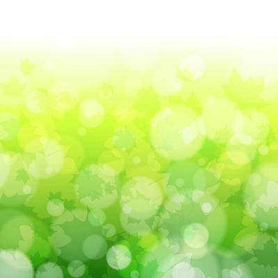 Green Blurry Nature Background with Bokeh Bubbles
