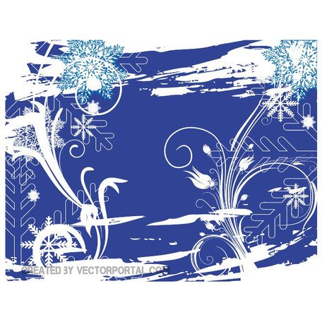 WINTER SWIRLS AND SNOWFLAKES STOCK VECTOR.ai