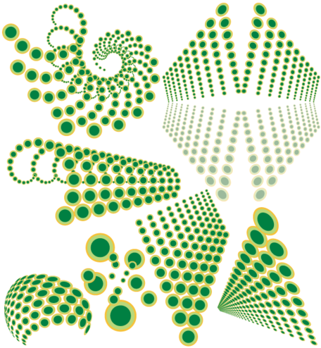 Abstract Swirl Dots Designs Elements Vector Free