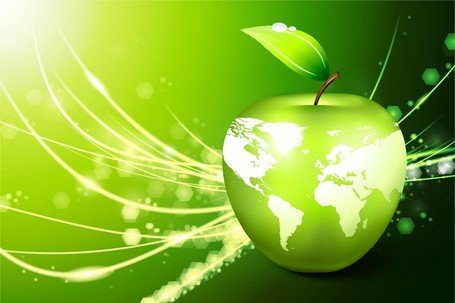 Apple Earth Vector 5